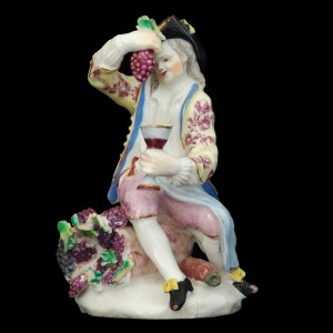 Porcelain figurine of Autumn. Bow Porcelain Factory, 13.5cm, c. 1755.