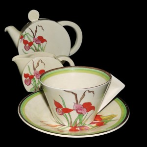 "Simply & stunning Clarice Cliff Tea for Two ""Desa"" c.1930s"