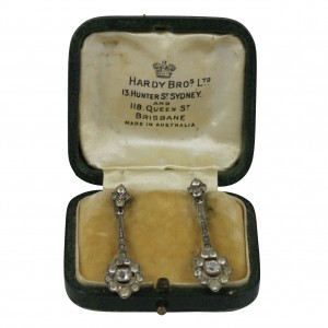 Hardy Bros original Diamond long Drop Earrings.