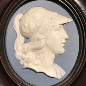 Alan Landis Antiques Wedgwood & Bentley poratrait medallion of Alexander the Great, circa 1775.