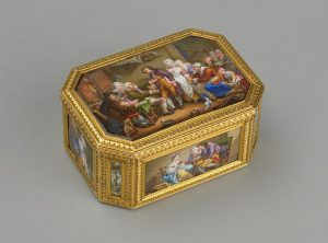 Eaglemont Antiques A 19th century French gilt and enamel Box.