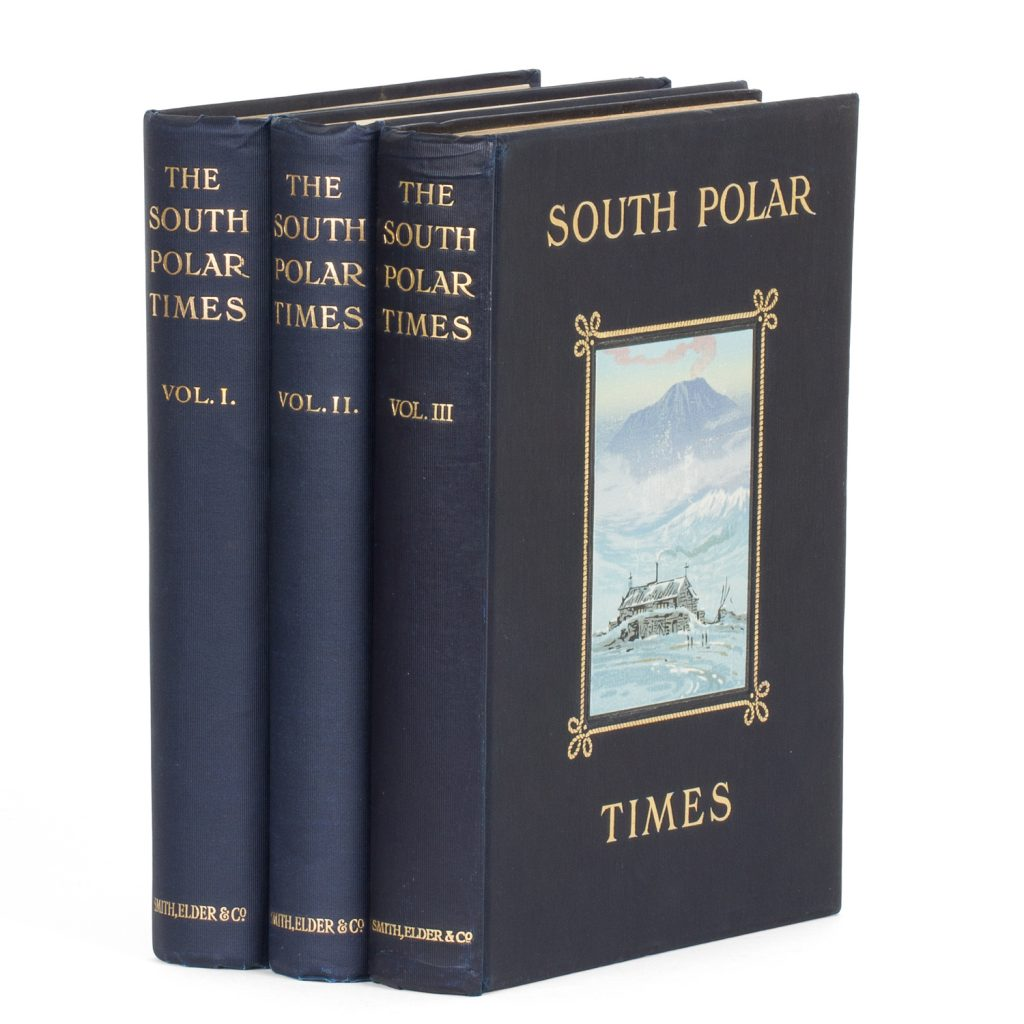The South Polar Times (3 volumes with subscribers' broadside) SHACKLETON, E. H.; BERNACCHI, Louis; CHERRY-GARRARD, Aspley; et al. # 14863