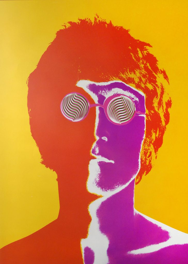 Circa Collectables Richard Avedon, one of 4 images this is John Lennon, 1967, Stern Magazine, posterized photographic image colour offset lithography.